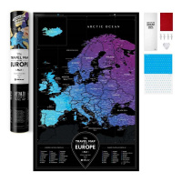 Карта travel map black europe