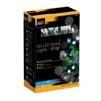 Гирлянда уличная string lights (50 led-ламп), белый свет